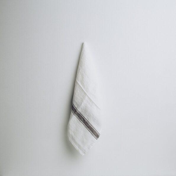 Vivario kjøkkenhåndkle hvit/granitt
