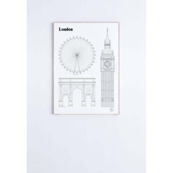 London 50×70