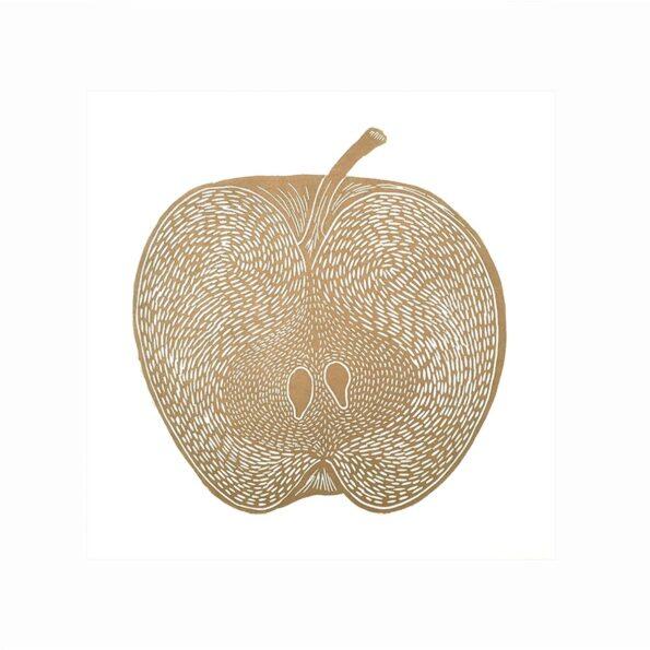 Apple gold/white 30×40