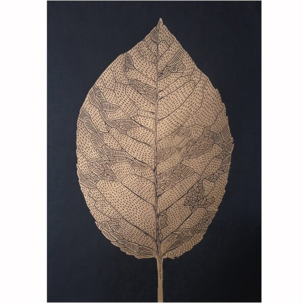 Leaf gold/black 50×70