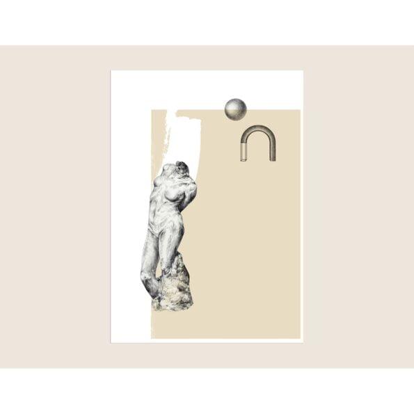 Venus in beige 30×40