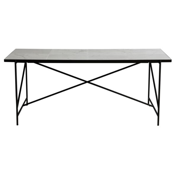 Dining table 185 white/black