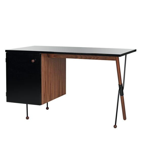 Gubi Desk 62-series, walnut/black