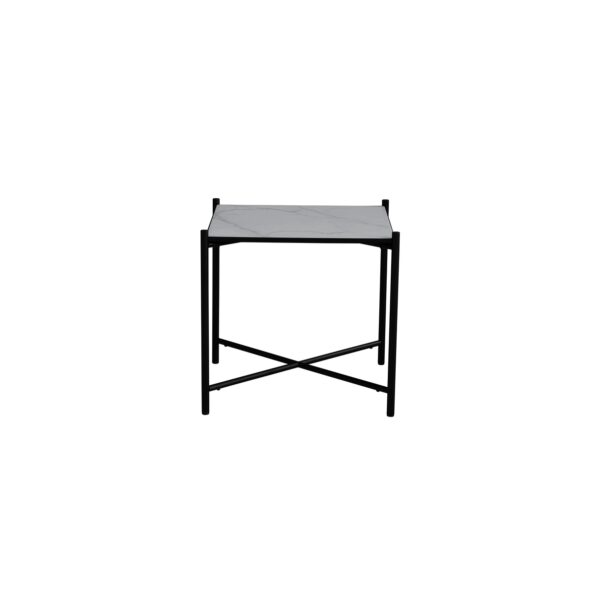 Side table white / black