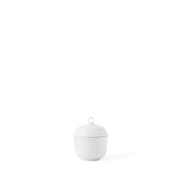 Rhombe suger bowl white