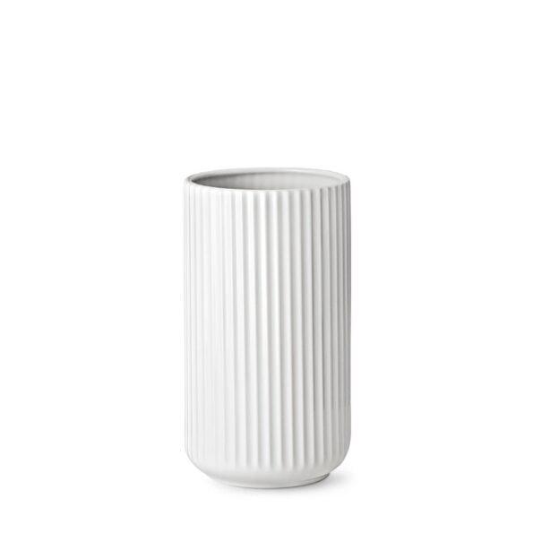 Lyngby vase 20cm matt hvit