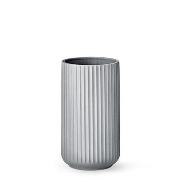 Lyngby vase 25cm lys grå