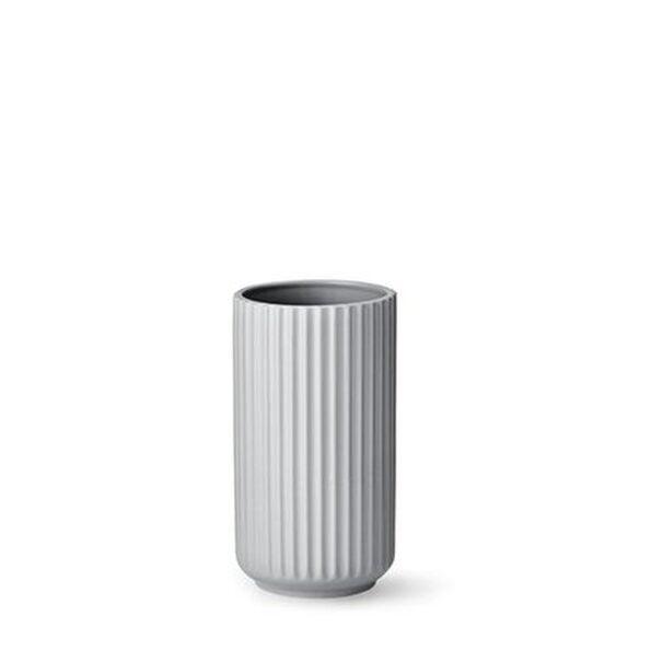 Lyngby vase 15cm lys grå