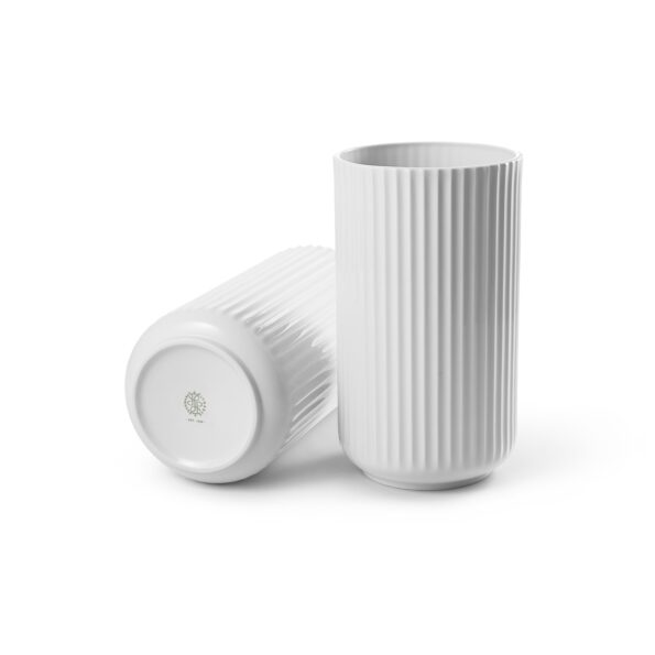 Lyngby vase 15cm matt hvit
