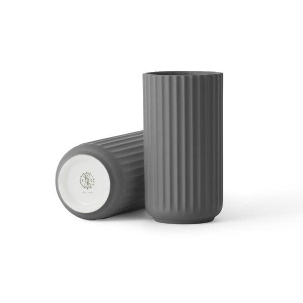 Lyngby Vase 20 cm, dark grey