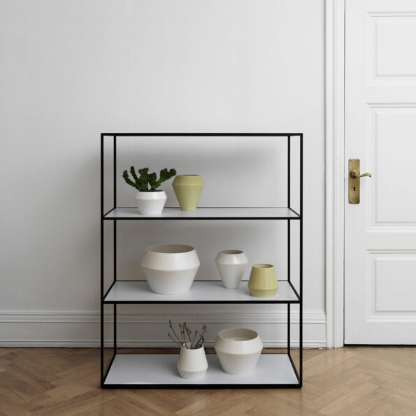 Twin bookcase, large