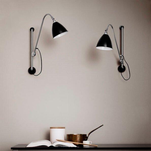 Bestlite BL5 Vegglampe Sort/krom
