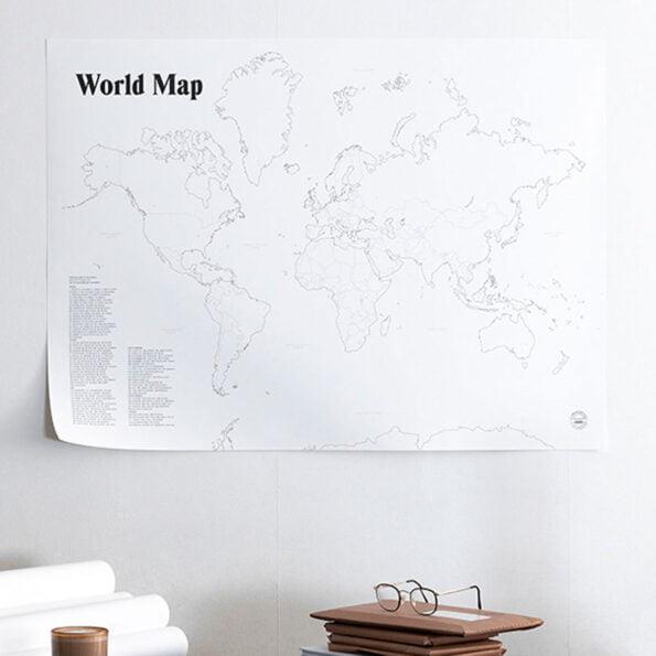 World Map 100×70