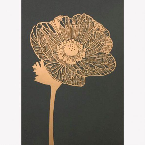Anemone gold/granite 50×70