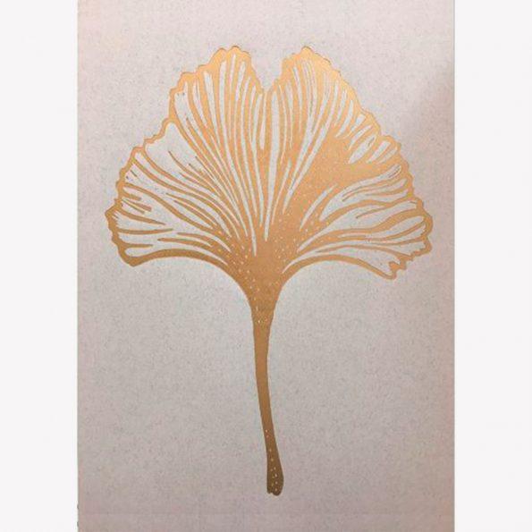 Gingko leaf gold/rosa