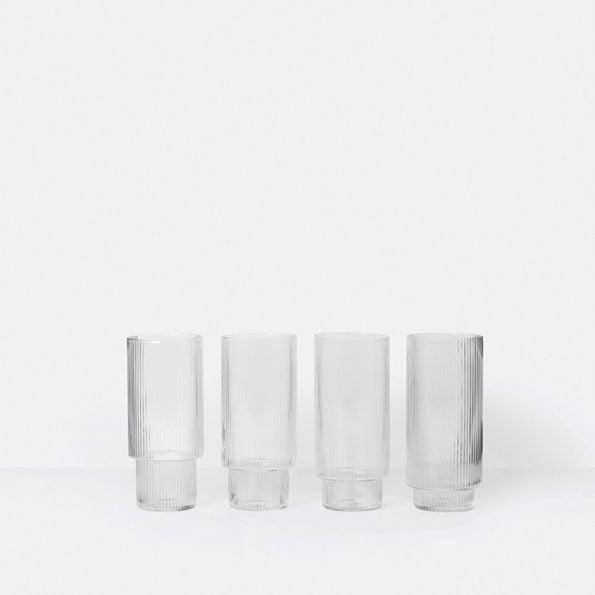 Rippel Longdrink glass – 4.stk